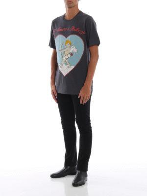 DOLCE & GABBANA: t-shirt online - T-shirt in cotone mélange L'Amore è bellezza
