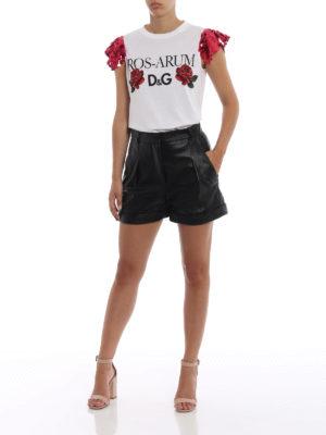 DOLCE & GABBANA: t-shirt online - T-shirt con maniche di paillettes