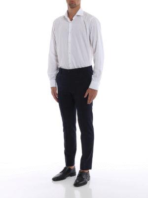 DOLCE & GABBANA: Pantaloni sartoriali online - Pantaloni formali in lana blu a quadri