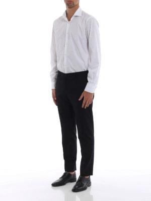 DOLCE & GABBANA: Pantaloni sartoriali online - Pantaloni formali in misto lana tinta unita