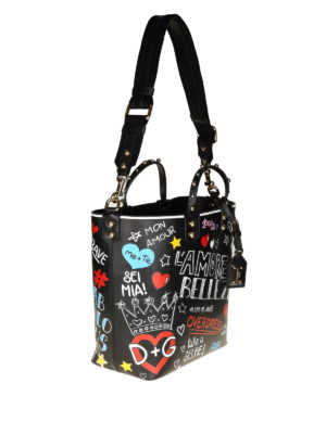 DOLCE & GABBANA: shopper online - Shopper Beatrice in vitello stampa murales