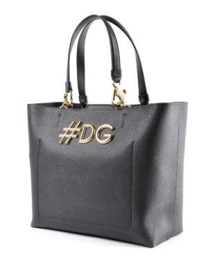 DOLCE & GABBANA: shopper online - Shopper in pelle Dauphine nera