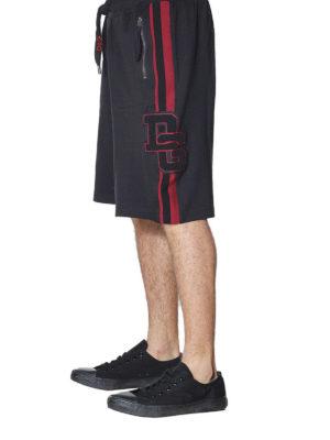 DOLCE & GABBANA: pantaloni sport online - Shorts in cotone con logo