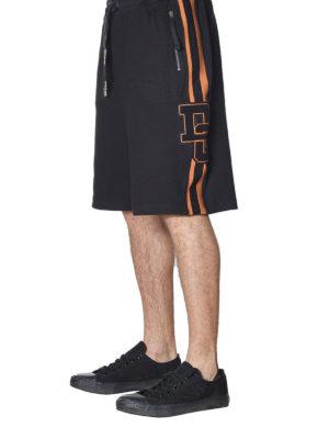 DOLCE & GABBANA: pantaloni sport online - Shorts in cotone con patch logo