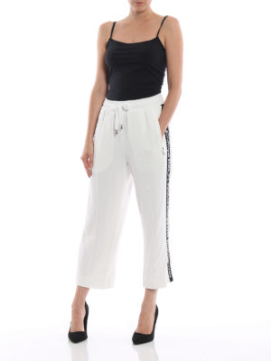 DOLCE & GABBANA: pantaloni sport online - Pantaloni da jogging crop #DG Millennials