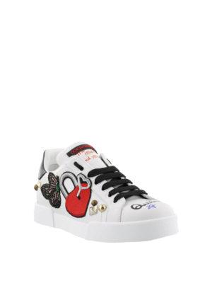 DOLCE & GABBANA: sneakers online - Sneaker Portofino  DG love in pelle