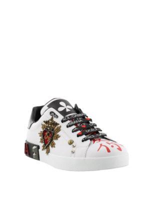 DOLCE & GABBANA: sneakers online - Sneaker con applicazione cuore