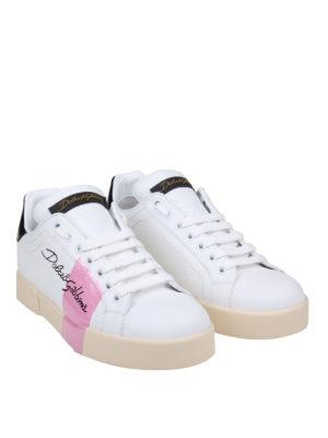 DOLCE & GABBANA: sneakers online - Sneaker Portofino con banda rosa