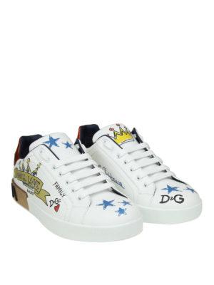 DOLCE & GABBANA: sneakers online - Sneaker Portofino in vitello nappato stampato