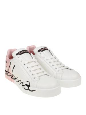 DOLCE & GABBANA: sneakers online - Sneaker Portofino bianche e rosa