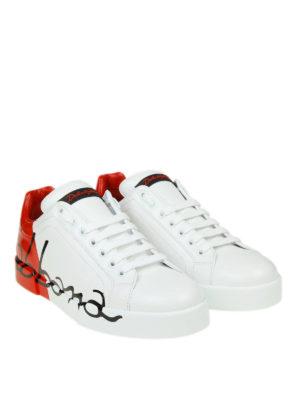 DOLCE & GABBANA: sneakers online - Sneaker Portofino bianche e rosse