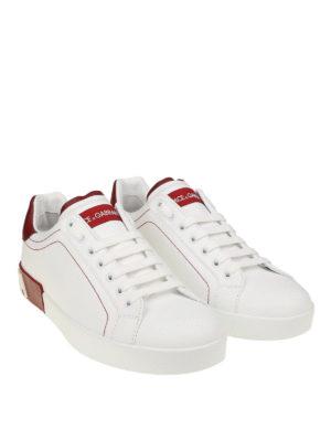 DOLCE & GABBANA: sneakers online - Sneaker Portofino in nappa bianche e rosse