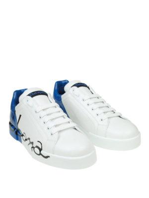 DOLCE & GABBANA: sneakers online - Sneaker Portofino bianche e azzurre