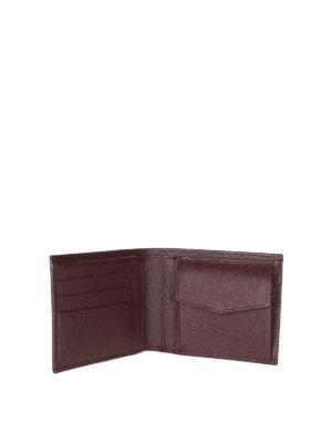 DOLCE & GABBANA: portafogli online - Portafoglio bifold in pelle Dauphine bordeaux
