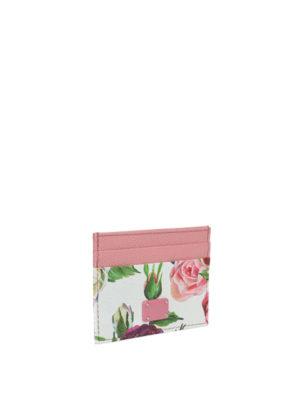 DOLCE & GABBANA: portafogli online - Portacarte con stampa floreale