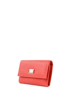 DOLCE & GABBANA: portafogli online - Portafoglio rosso pattina e logo