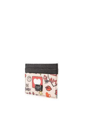 DOLCE & GABBANA: portafogli online - Portacarte rosa stampa Murales