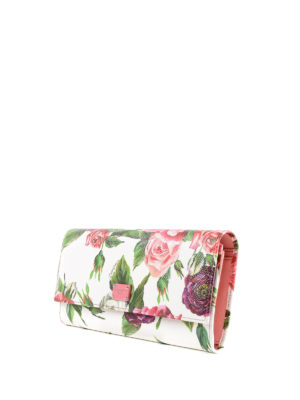 DOLCE & GABBANA: portafogli online - Portafoglio in pelle stampa peonie