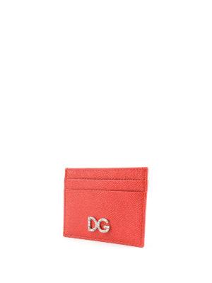 DOLCE & GABBANA: portafogli online - Portacarte in pelle rossa Dauphine