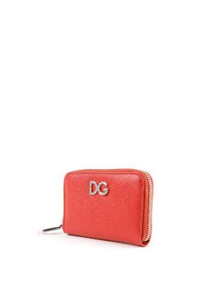 DOLCE & GABBANA: portafogli online - Portafoglio zip-around small rosso
