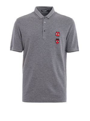 Dolce & Gabbana: polo shirts - #dgfamily patched polo