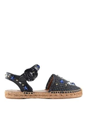 Dolce & Gabbana: sandals - Anchor patch sandals