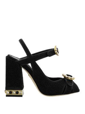 DOLCE & GABBANA: sandali - Sandali gioiello Bette in lurex