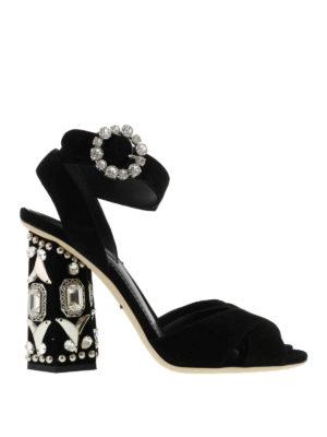 Dolce & Gabbana: sandals - Embellished leather sandals