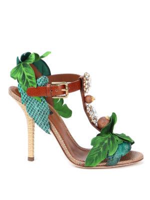 DOLCE & GABBANA: sandals - Keira bejewelled sandals