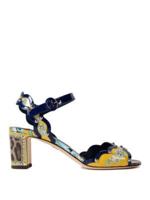 Dolce & Gabbana: sandals - Keira printed patent sandals