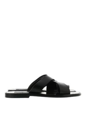 Dolce & Gabbana: sandals - Leather sandals