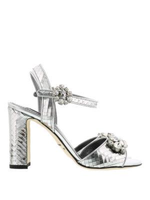 Dolce & Gabbana: sandals - Mirror leather sandals