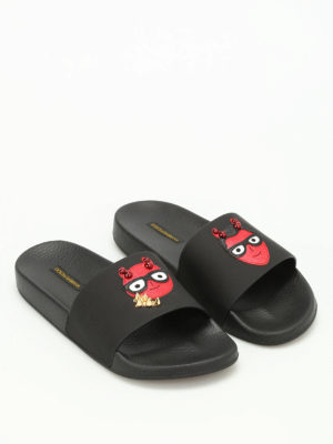 Dolce & Gabbana: sandals online - Designer patch slides