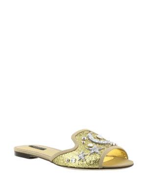 Dolce & Gabbana: sandals online - Jewel gold-tone flat sandals