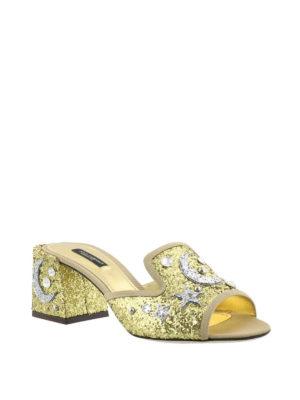 Dolce & Gabbana: sandals online - Jewel gold-tone open toe sandals