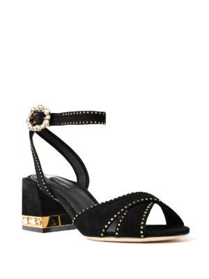 Dolce & Gabbana: sandals online - Keira jewel suede sandals