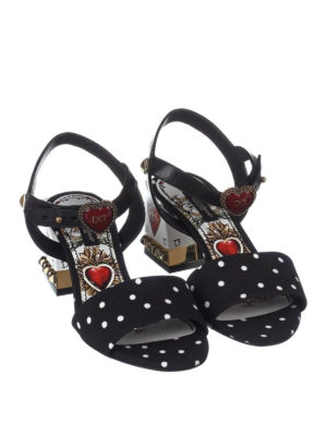 Dolce & Gabbana: sandals online - Keira leather and cady sandals