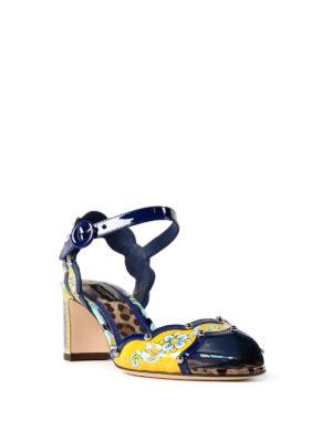 Dolce & Gabbana: sandals online - Keira printed patent sandals