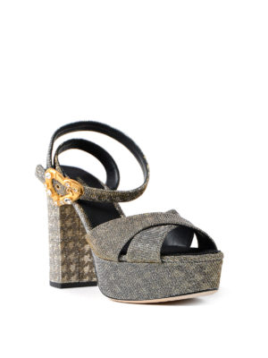 Dolce & Gabbana: sandals online - Keira two-tone heart buckle sandals