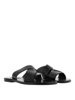 Dolce & Gabbana: sandals online - Leather sandals