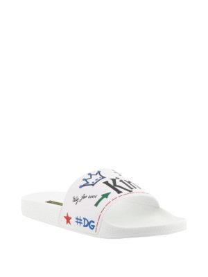 Dolce & Gabbana: sandals online - Saint Barth white slide sandals