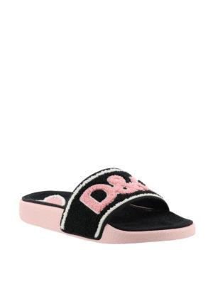 Dolce & Gabbana: sandals online - Terrycloth slide sandals