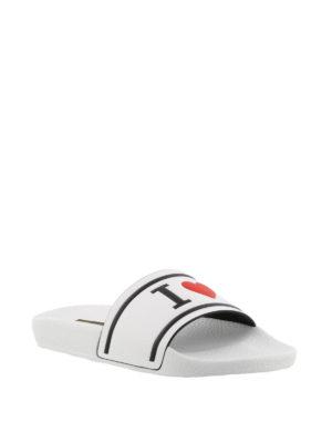 Dolce & Gabbana: sandals online - White Saint Barth slide sandals