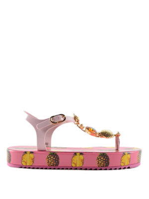 Dolce & Gabbana: sandals - Pineapple print rubber sandals