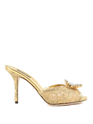 Dolce & Gabbana: sandals - Taormina lace jewel sandals
