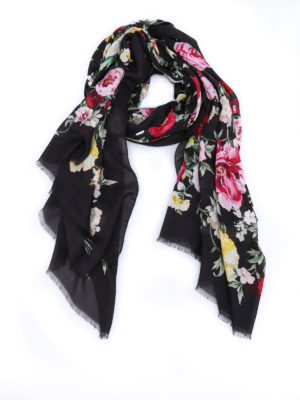 Dolce & Gabbana: scarves - Floral patterned soft scarf