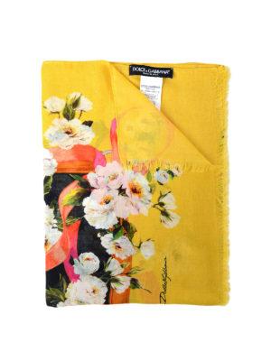 Dolce & Gabbana: scarves - Floral print cashmere blend scarf