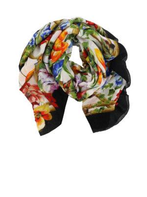 DOLCE & GABBANA: sciarpe e foulard - Sciarpa in modal e seta floreale