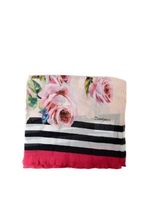 Dolce & Gabbana: scarves - Floral print silk crepe scarf