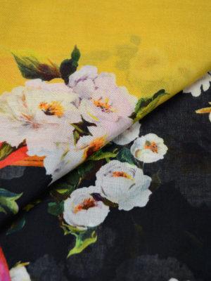 Dolce & Gabbana: scarves online - Floral print cashmere blend scarf